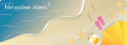 Ocean beach banner Stock Photos