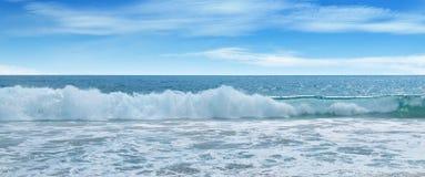 Ocean,  beach and blue sky Royalty Free Stock Photography
