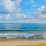 Ocean, beach and blue sky Royalty Free Stock Photo