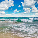 Ocean,  beach and blue sky Royalty Free Stock Image