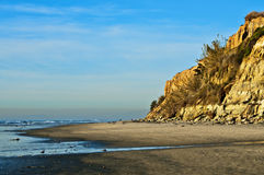 Ocean Beach with Cliffs, California Stock Images