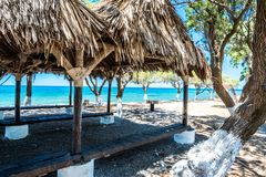 Ocean beach on the Crete. Ocean beach  on the Crete in sunny day Royalty Free Stock Photography