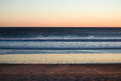 Ocean and beach at dusk Royalty Free Stock Image