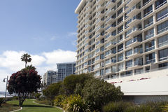 Ocean beach hotels and condominiums Royalty Free Stock Photo