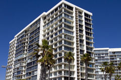 Ocean beach hotels and condominiums Royalty Free Stock Image