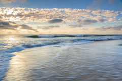 Ocean and Beach Landscape North Carolina. Landscape of the Atlantic Ocean at sunrise on the Cape Hatteras National Seashore, Outer Banks, North Carolina Stock Images