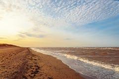 Ocean beach in the morning Stock Photos
