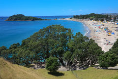 Ocean beach, mt Maunganui, New Zealand Stock Images