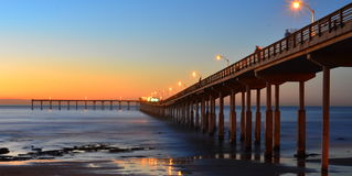 Ocean beach pier. Just after sunset. San Diego CA Stock Image