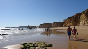 Amazing Ocean Beach in Portugal Stock Photos