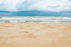 Ocean beach relax, outdoor travel. Sea view from tropical beach Stock Photos