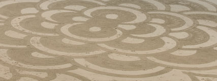 Ocean Beach Sand Art. Abstract figures drawn in the sand on San Francisco's Ocean Beach Royalty Free Stock Image