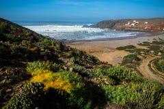Ocean Beach during a storm. Morocco Royalty Free Stock Photos