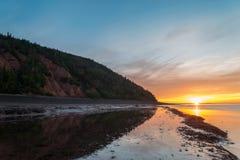 Ocean beach at sunrise. (Blomidon Provincial Park, Nova Scotia, Canada Stock Photo