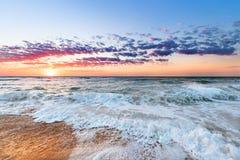 Ocean beach sunrise. Colorful ocean beach in  sunrise Royalty Free Stock Photos