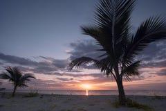 Ocean beach sunset Stock Photo