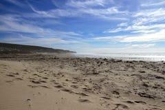 Ocean beach with surf Royalty Free Stock Photos