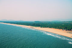 Ocean, beach, tropical forest and mountains Stock Images