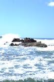 Ocean Beach Water Bay San Juan Del Sur Nicaragua. Nicaragua Paradise Beach Vacation Tourist Destination Tourism Pacific Ocean Central America Stock Images