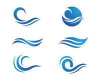Ocean Beach Wave Logo Royalty Free Stock Photo