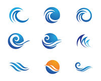 Ocean Beach Wave Logo Royalty Free Stock Images