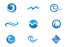 Ocean beach wave logo royalty free illustration