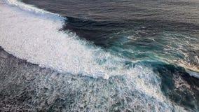 Ocean beatiful waves. Waves in ocean Splashing Waves. Ocean wave High Angle View Of Rippled Water stock footage