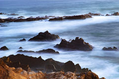 Ocean beauty. Pacific Ocean in the sunset at Cambria Stock Photos
