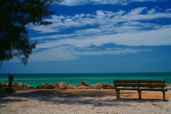 Ocean Bench Royalty Free Stock Images