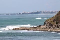 Ocean at Biarritz Stock Photography