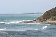 Ocean at Biarritz Stock Photo