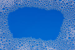 Ocean blue bubbles with insert area Stock Photography
