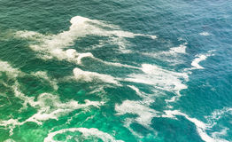 Ocean. Blue green hues of the South Atlantic Ocean off the coast of South Africa Royalty Free Stock Photo