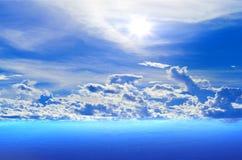Ocean, blue sky Royalty Free Stock Photo