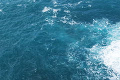 Ocean blue water background Royalty Free Stock Photos