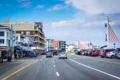 Ocean Boulevard, in Hampton Beach, New Hampshire. Royalty Free Stock Images