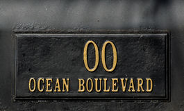 Ocean Boulevard Sign Royalty Free Stock Photo