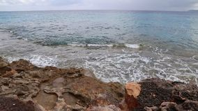 Ocean breakwater video stock video footage