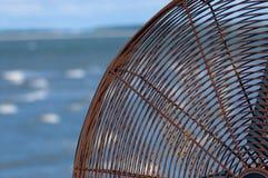 Ocean Breezes. Closeup of a rusty fan on a Harbour Town pier on Hilton Head Island stock images