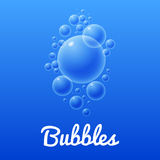 Ocean bubbles icon with text Stock Image