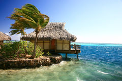 Ocean bungalow Stock Image