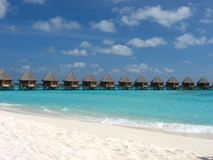 Ocean bungalows. Royalty Free Stock Images