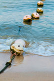 Ocean buoys in order to tell their territory. Royalty Free Stock Image