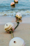 Ocean buoys in order to tell their territory. Stock Photos