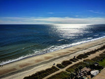 Ocean Calm. A calm ocean, around mid-day. Myrtle Beach, SC stock image