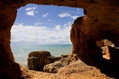 Ocean cave Stock Photos