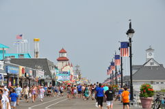 Ocean City Boardwalk in New Jersey Stock Photography