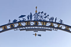 Ocean City , Maryland Boardwalk Entryway SIgn Royalty Free Stock Images