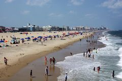 Ocean City, Maryland. Ocean City (OC or OCMD), officially the Town of Ocean City, is an Atlantic resort town in Worcester County, Maryland. Ocean City is a Royalty Free Stock Images