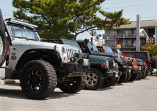 Row of Jeep Front Ends Close Up Stock Photos